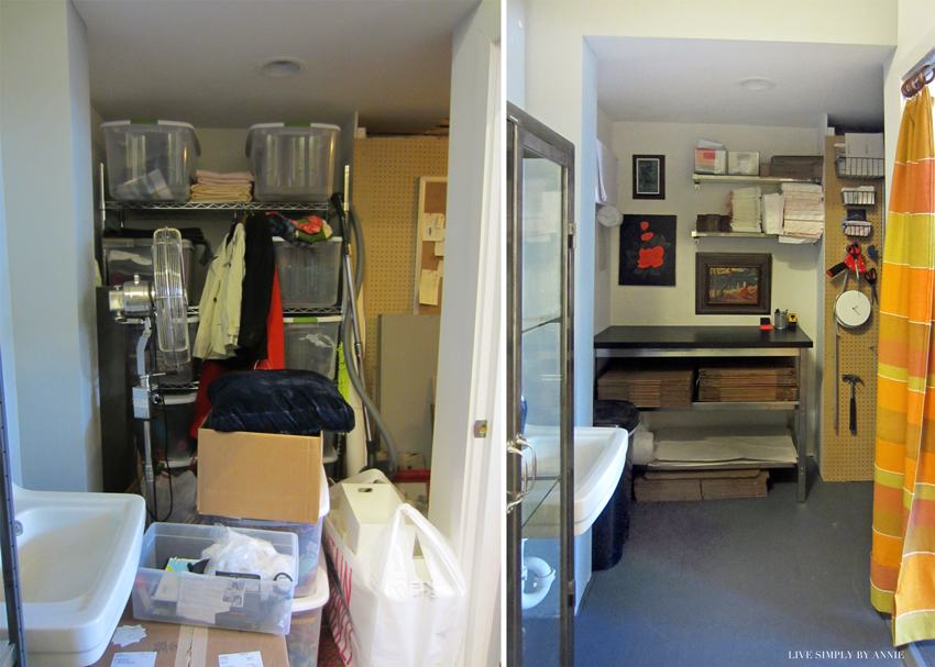 Design studio before & after // Live Simply by Annie, professional organizing services
