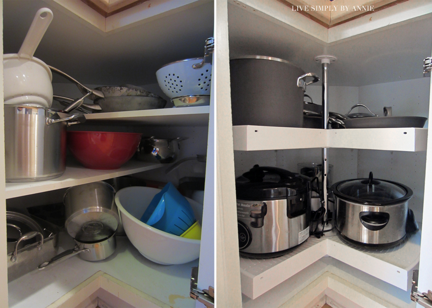 Kitchen before & after // Live Simply by Annie, professional organizing services
