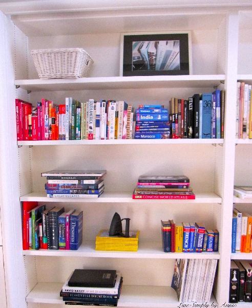 Organized Library // Live Simply by Annie, professional organizing services