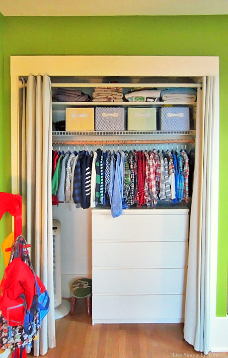Organized kid's closet // Live Simply by Annie, professional organizing services