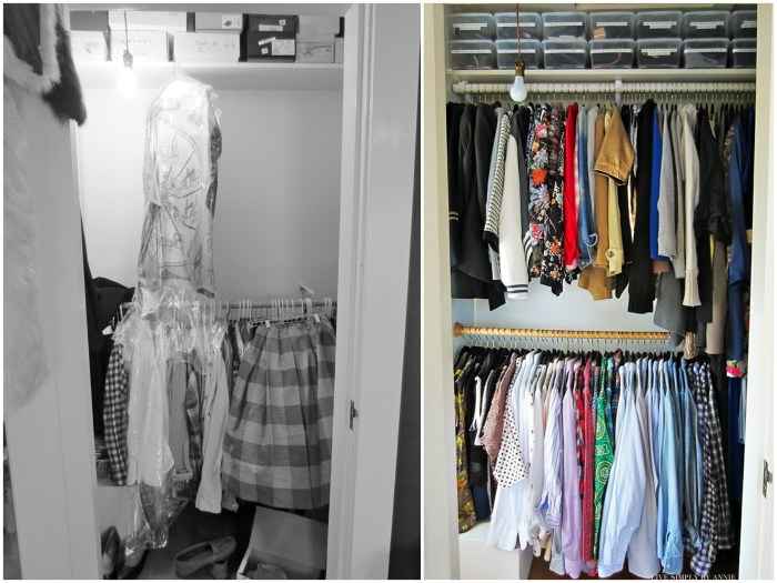 A closet transformation! // Live Simply by Annie, professional organizing services