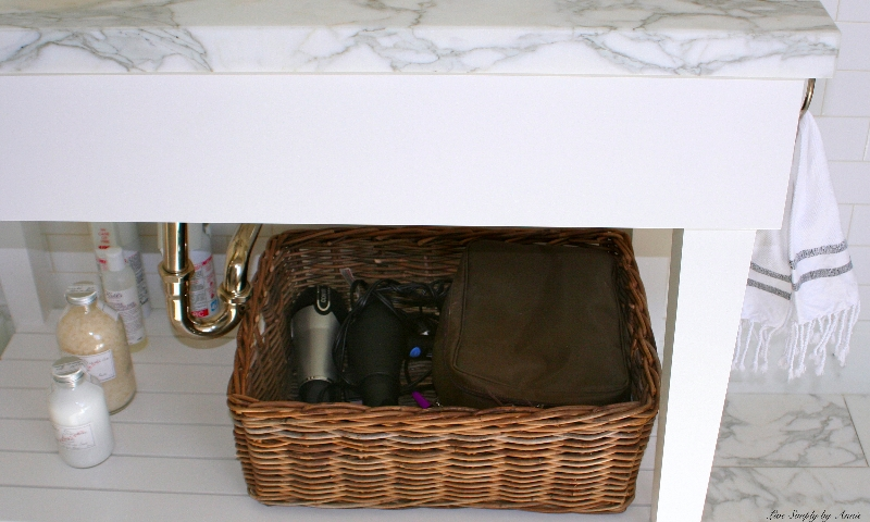 Organized bath // Live Simply by Annie, professional organizing services