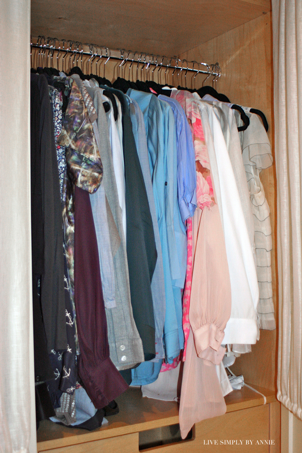 Organized luxury walk in closet // Live Simply by Annie, professional organizing services