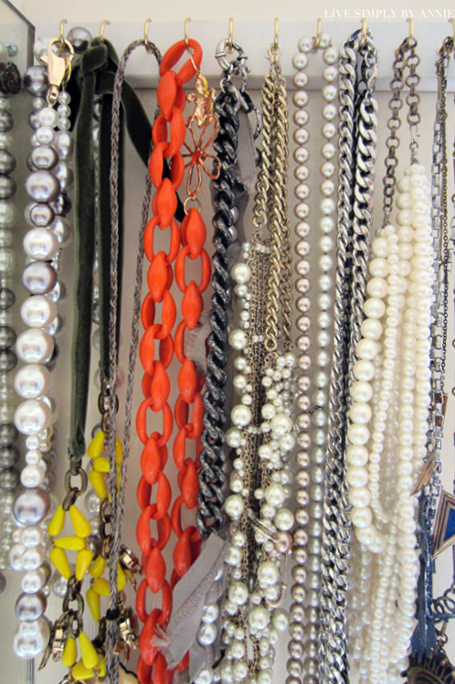 Organized jewelry storage // Live Simply by Annie, professional organizing services