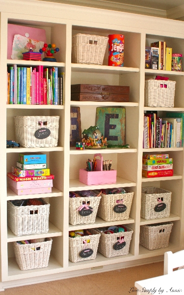 Organized, Clutter-Free Playroom // Live Simply by Annie, professional organizing services
