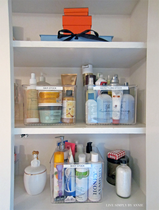 Organized cosmetics //  Live Simply by Annie, professional organizing services