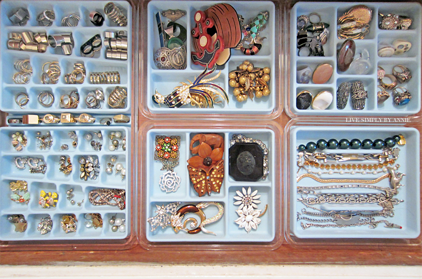 Organized jewelry drawer //  Live Simply by Annie, professional organizing services