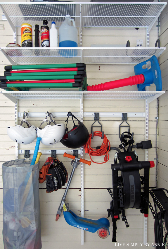 Organized & Decluttered Garage // Live Simply by Annie, professional organizing services