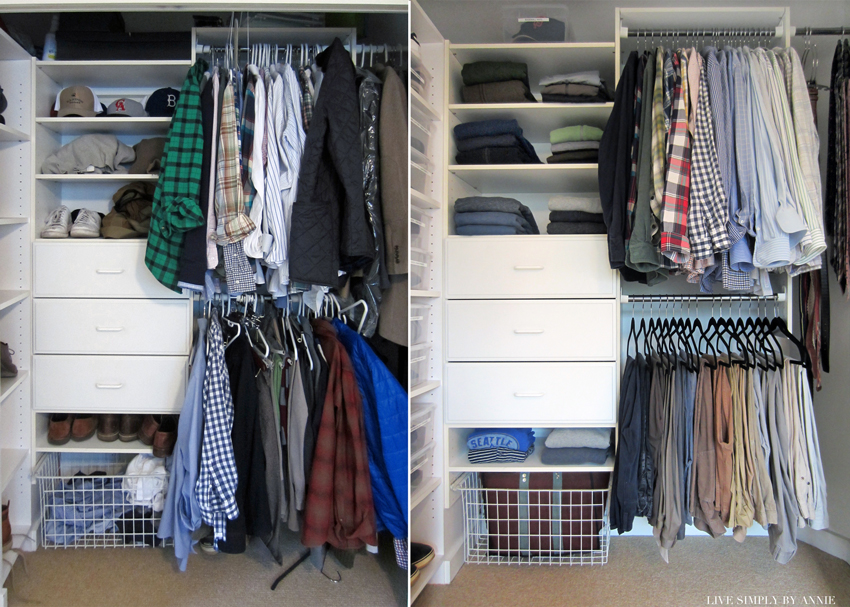 Closet before & after //  Live Simply by Annie, professional organizing services