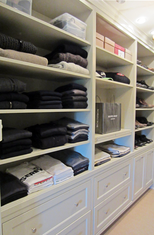 Organized walk in closet // Live Simply by Annie, professional organizing services