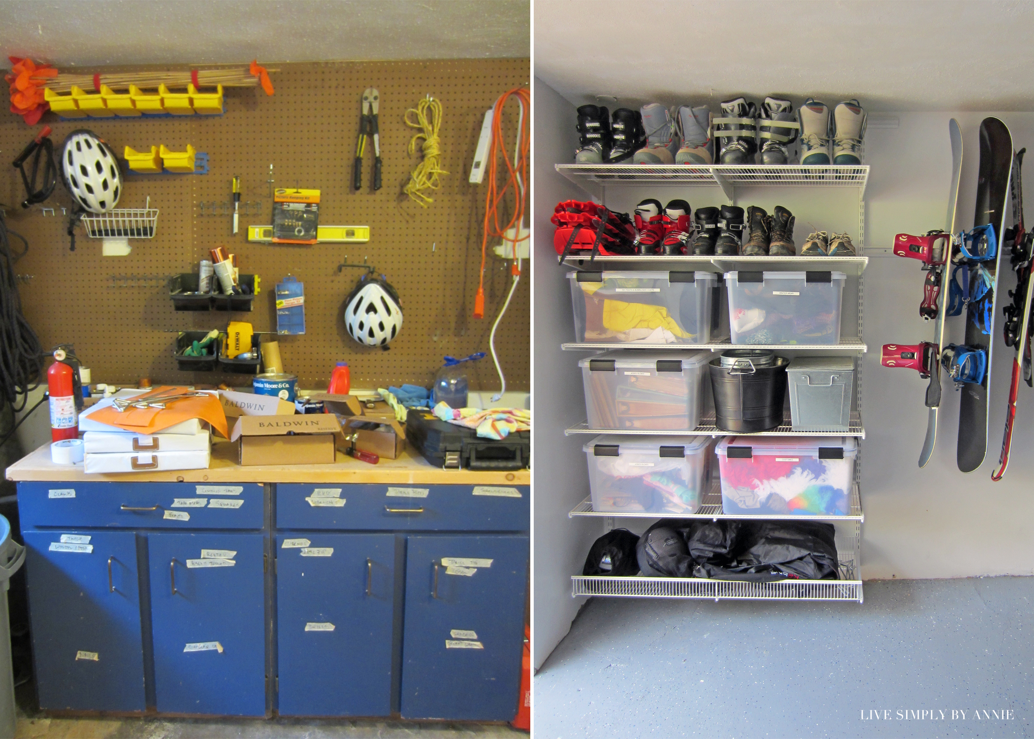 Garage BEFORE & AFTER // Live Simply by Annie, professional organizing services