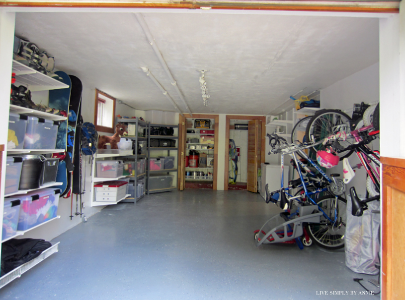 Organized Garage // Live Simply by Annie, professional organizing services