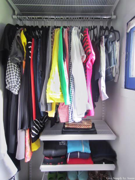 a tiny closet transformation // Live Simply by Annie, professional organizing services