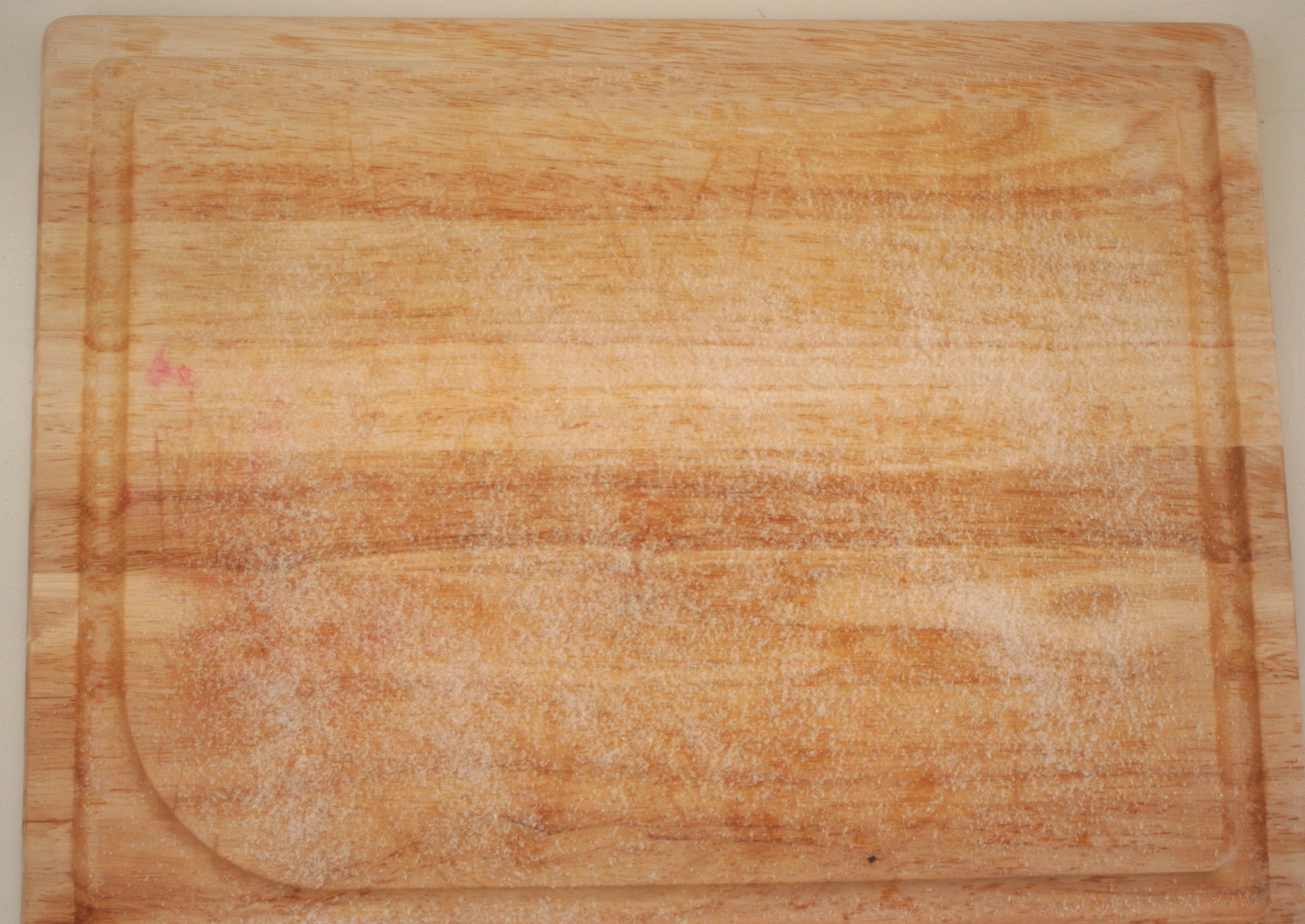 how to clean a sticky wooden cutting board