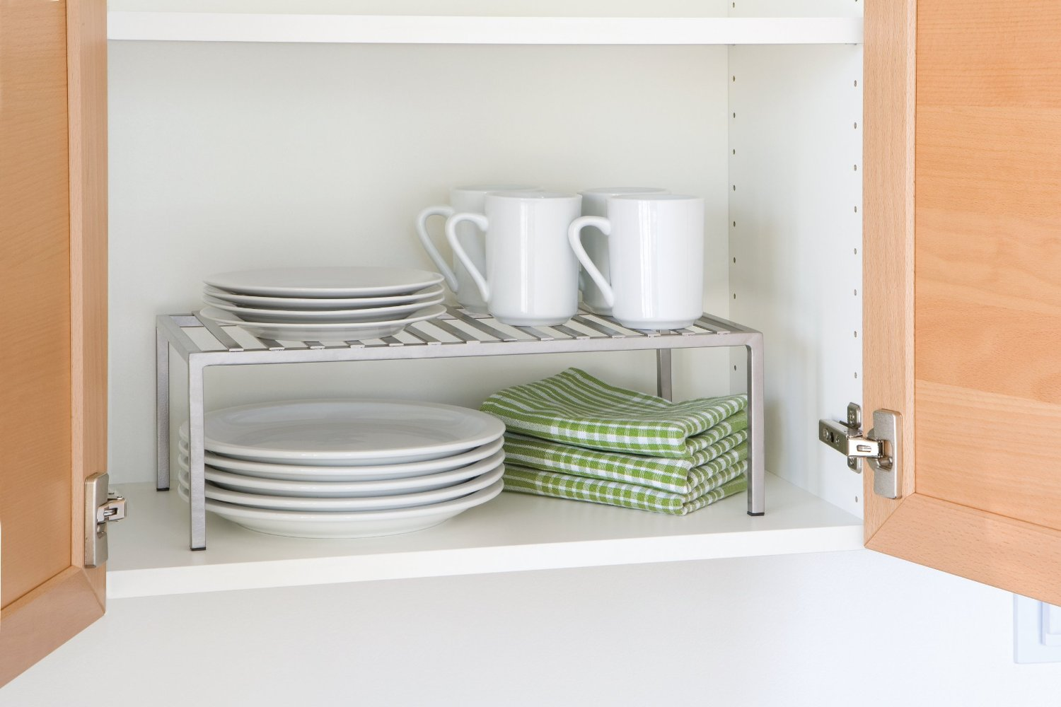 Kitchen Cabinet Stacking Shelf