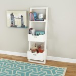 Leaning Bookcase With Bins