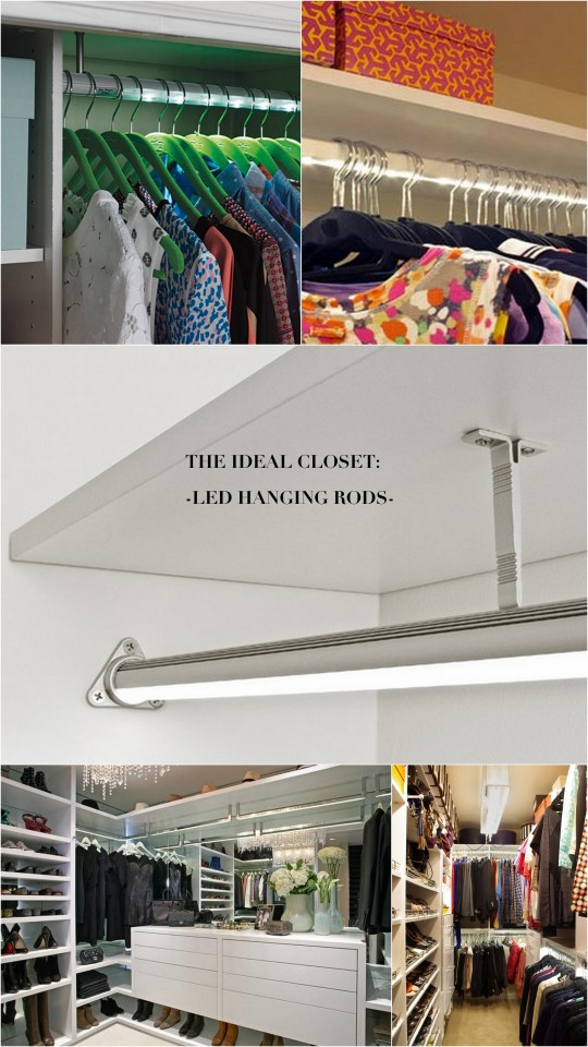 The Ideal Closet Illuminated Led Hanging Rod Live