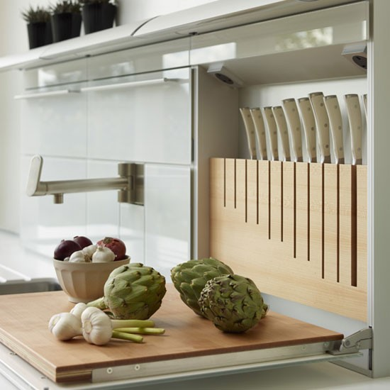 Genius! The fold down kitchen prep station