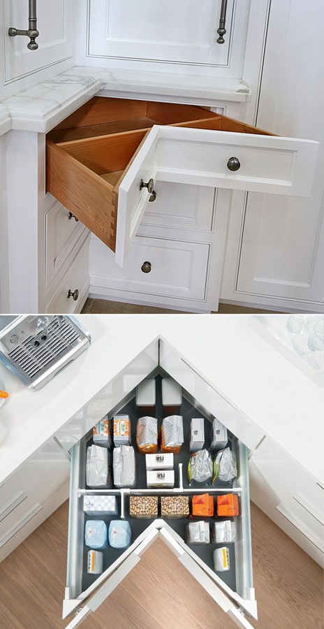 Remembering this genius idea for when I build a kitchen of my own!