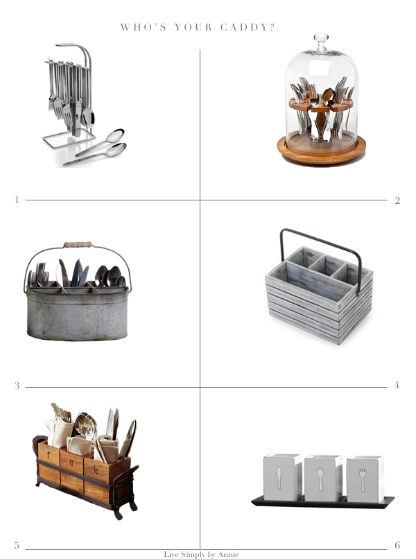 great options for organizing silverware outside or in a small kitchen.