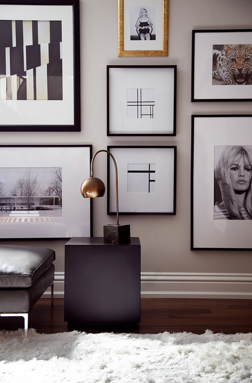 High glamour gallery wall by The Design Co.
