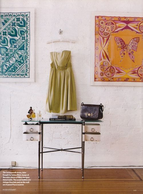 Framing scarves--instant art and a way to put those gorgeous silks to use!