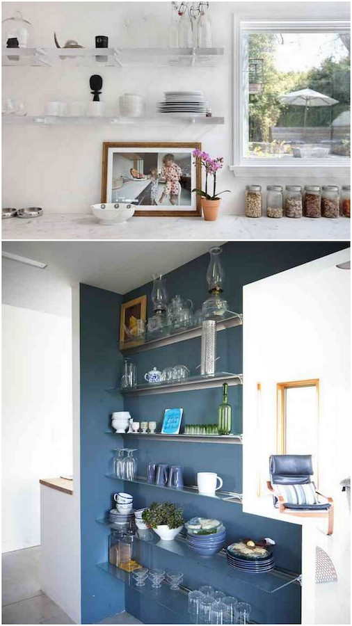 Storage can be pretty! Loving the idea of using acrylic shelves to keep things looking streamlined.