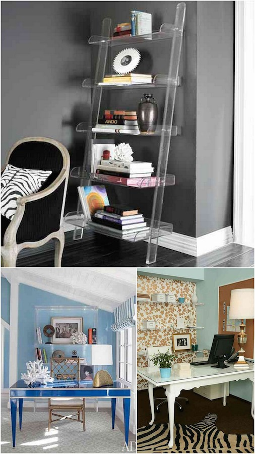 Bookshelf styling never looked so good! Loving these examples of acrylic shelving.