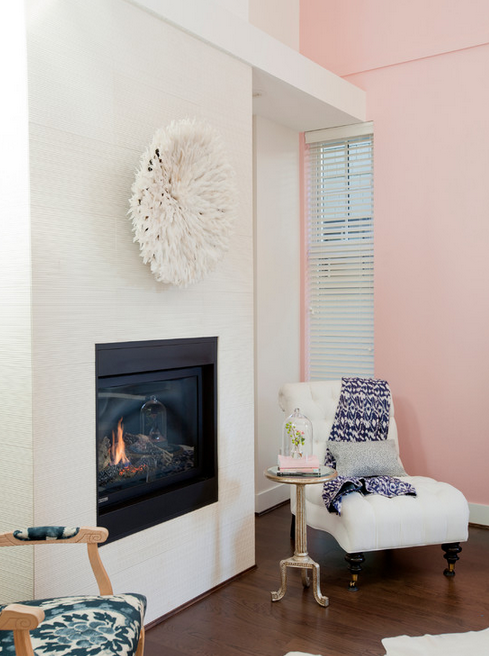 pink, white, and navy reigns in this glamorous but easy space by The Cross Interior Design
