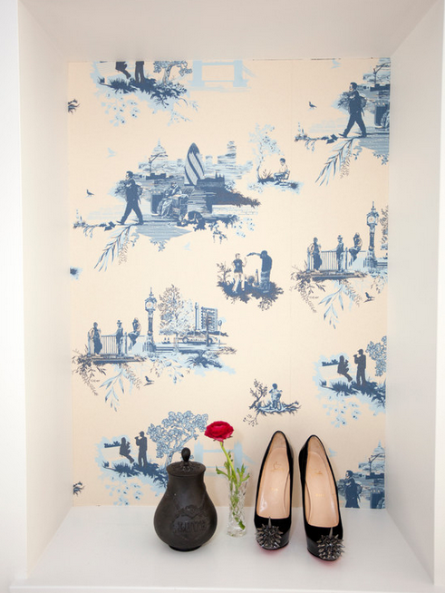 Blue toile by The Cross