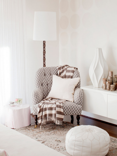 Beautiful, soft palette in this living area.