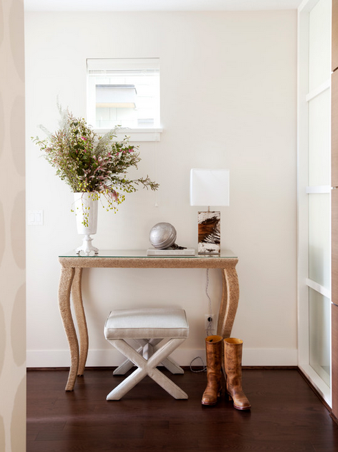 The Cross Interior Design's take on the entryway console table.