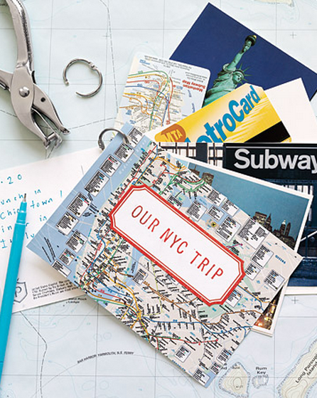 Here's a way to keep all that travel memorabilia together in one place.