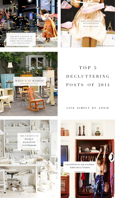 The top 5 decluttering posts of 2014!