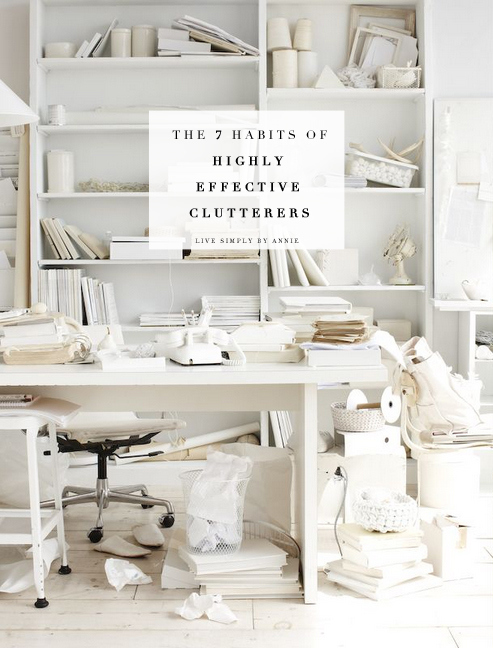 The #1 decluttering post of 2014!! If you've ever struggled with clutter, or known someone who has, you need to read this--> The 7 Habits of Highly Effective Clutterers. Pin now, pass it on.