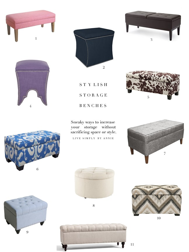 Maybe the best item for a small space--the storage ottoman.