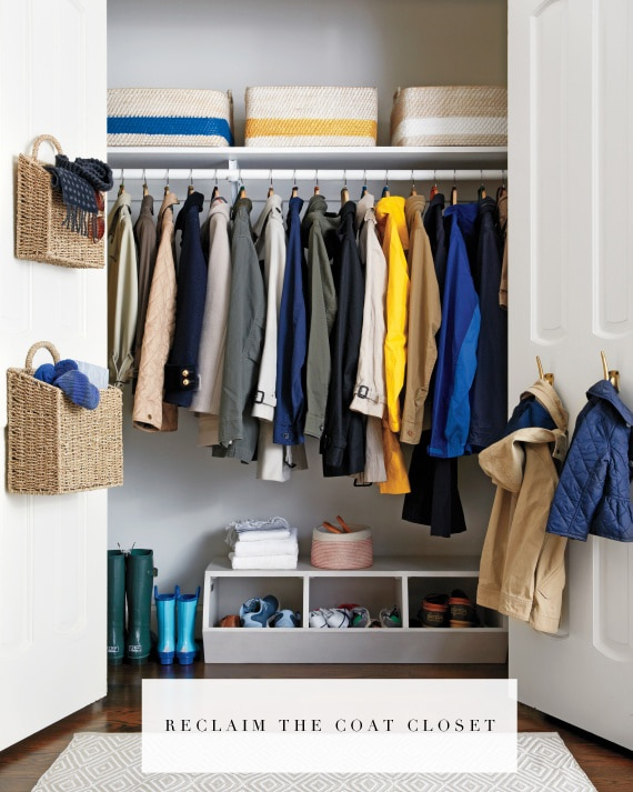 organize your coat closet this weekend!