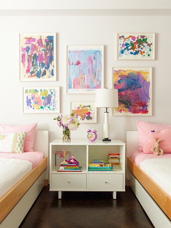Inspiration and motivation to finally get the kids' art and schoolwork under control and beautifully organized!