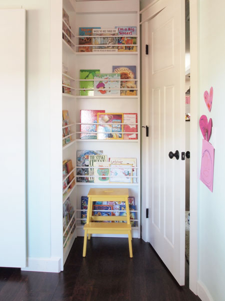 A brilliant way to squeeze more storage into your small space: the behind the door bookcase!