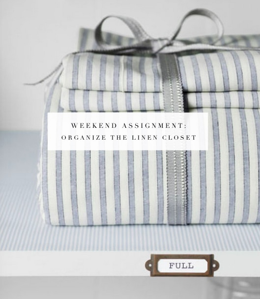 Just the motivation needed to finally tackle that linen closet!