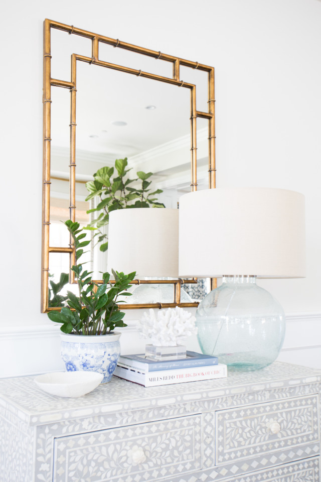 Gold mirror and beachy vibe from Studio McGee