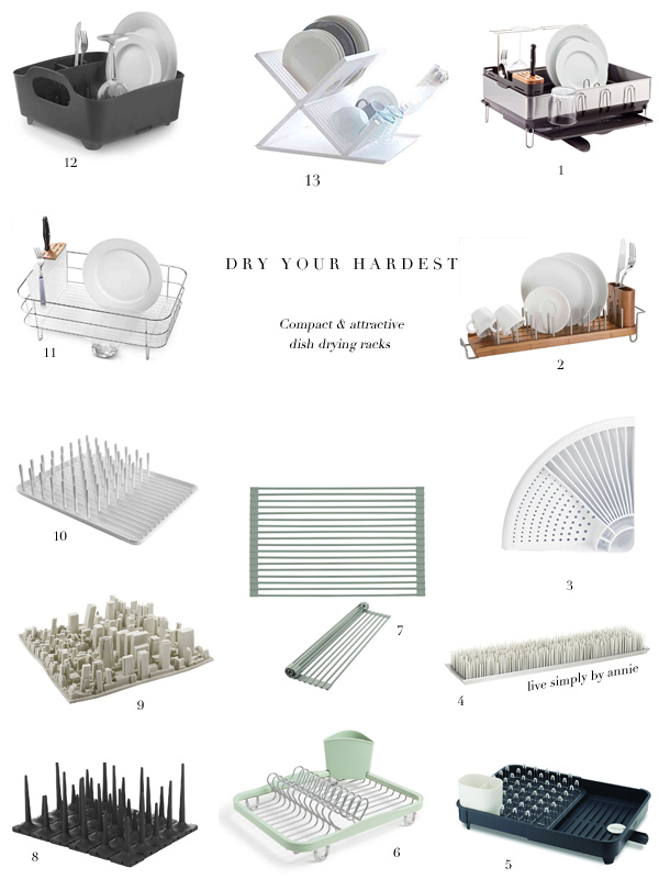 Dish Drying Racks That Are Actually Compact Amp Attractive
