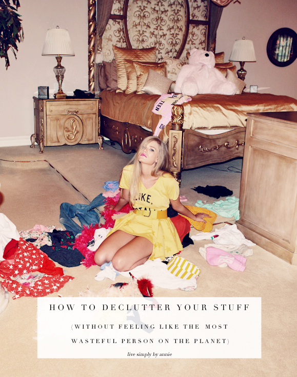 Does decluttering make you feel wasteful? Here's why and how to avoid those bad feelings so you can get on with your life and your letting go of things you don't need.