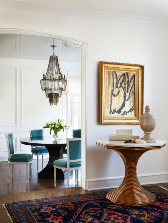 Take a peek into the sophisticated family home that takes its inspiration from a Parisian apartment.