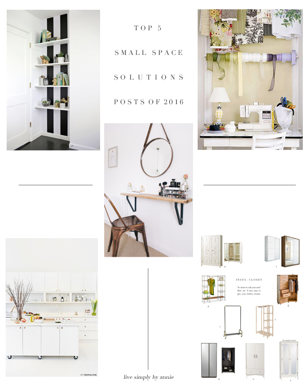 the top five most popular posts about small space solutions! Pin now, read later.