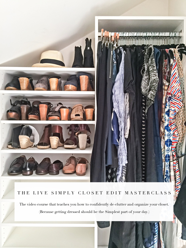 Meet your new organizing bff: the Live Simply closet edit Masterclass!