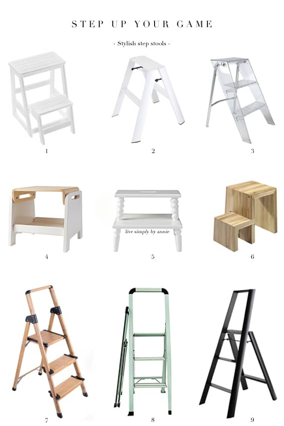 Step stools that are stylish enough to leave out in plain sight (the only place they're ever convenient).