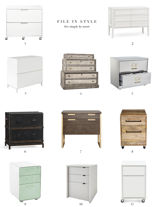 11 Stylish Filing Cabinets Live Simply By Annie