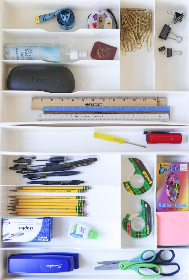 For starters, stop calling it a junk drawer...