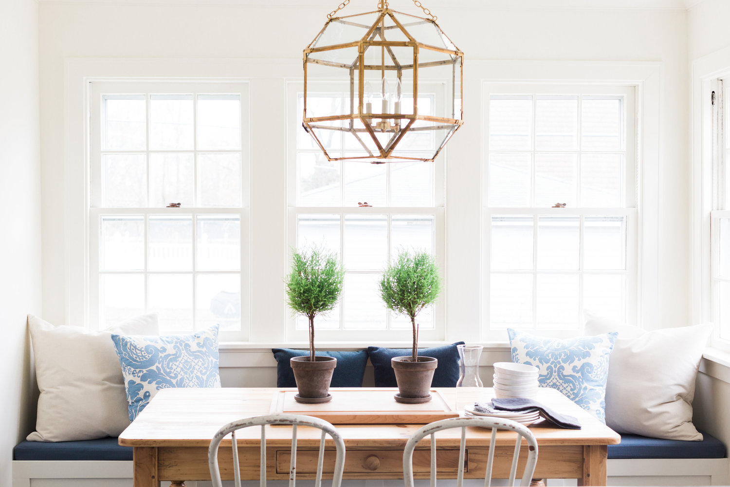 Casual elegance in the form of a breakfast nook.